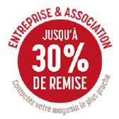 remise 30% entreprise et associations